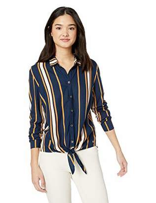 Roxy Junior's Suburb Vibes Tie Front Button Up Top, M