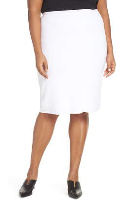 Ming Wang Knit Pencil Skirt