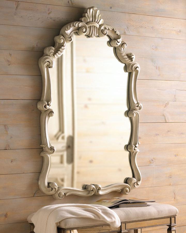 Antiqued Baroque Mirror