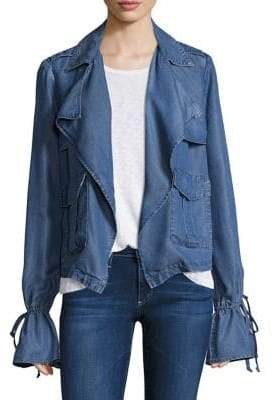 Ella Moss Calix Bell-Sleeve Chambray Jacket