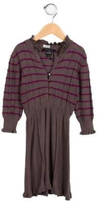 Little Marc Jacobs Girls' Knit Long Sleeve Dress