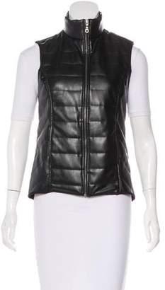 Barneys New York Barney's New York Vegan Leather Quilted Vest