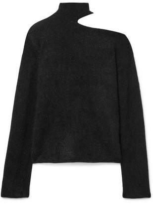 RtA Langley Cutout Mohair And Wool-blend Turtleneck Sweater - Black