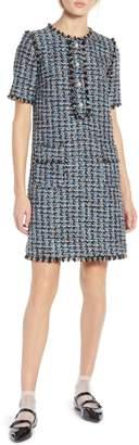 Halogen x Atlantic-Pacific Fringe Tweed Dress