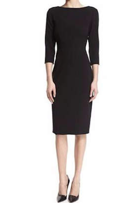 Theory Black Crepe Dress