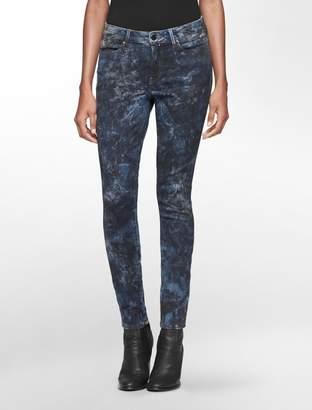 Calvin Klein light camo blue wash leggings
