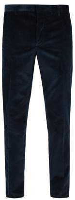 Prada Straight Leg Corduroy Trousers - Mens - Navy