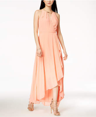 Sangria Surplice Flutter Maxi Dress