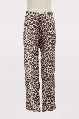 La Prestic Ouiston Silk leopard pants