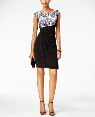 Connected Soutache Faux-Wrap Dress $79 thestylecure.com