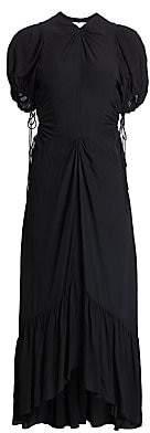 Proenza Schouler Women's Cutout Crepe de Chine Midi Dress - Size 0