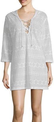 Porto Cruz Jacquard Jacquard Swimsuit Cover-Up Dress