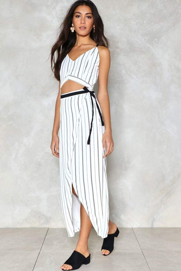 nastygal Caught in the Middle Striped Dress