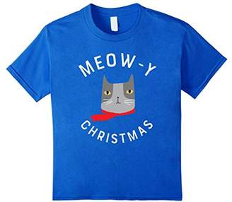 Funny Cat Christmas Gift | Meow-y Christmas T-Shirt