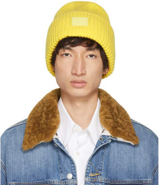 Acne Studios Yellow Pansy N Face Beanie