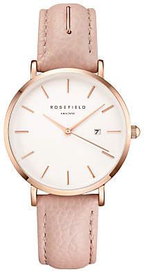 ROSEFIELD Women's September Issue Art Director Date Leather Strap Watch