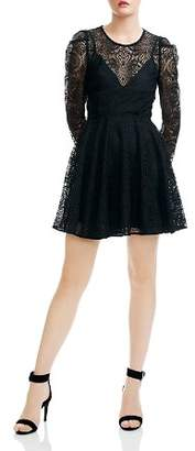 Maje Rizone Lace Fit-and-Flare Silhouette