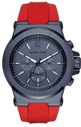 Men's Michael Kors 'Dylan' Chronograph Silicone Strap Watch, 48Mm $250 thestylecure.com