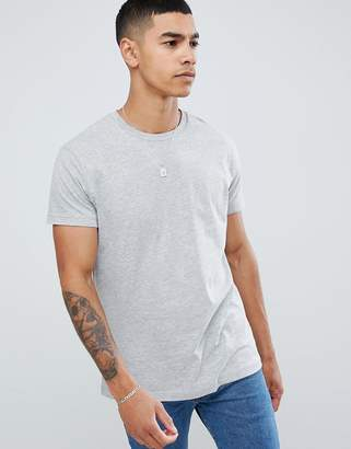 Pull&Bear Join Life basic t-shirt in gray