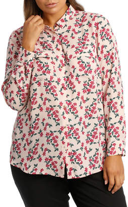 Double Pocket Print Soft Shirt