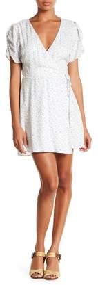 Lush Star Print Wrap Dress