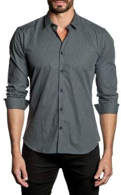 Jared Lang Polka Dots Button-Down Shirt