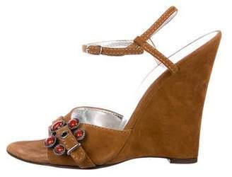 Dolce & Gabbana Suede Wedge Sandals