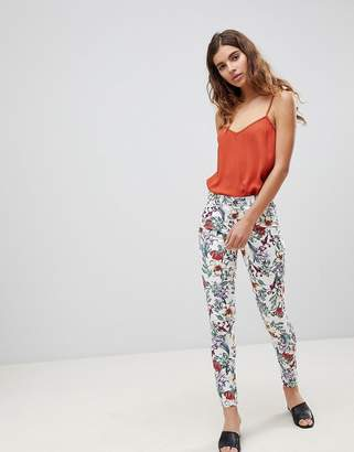 Brave Soul Karlie Floral Print Trousers
