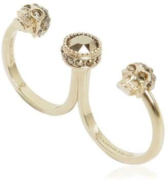 Alexander McQueen Skull Double Ring