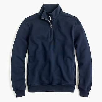 J.Crew French terry half-zip sweatshirt in navy