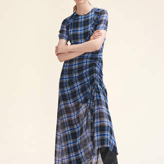 Maje Long checked dress