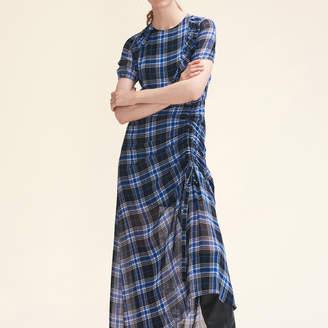 Maje Long checked dress