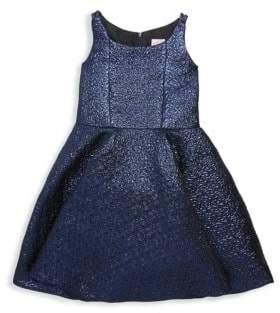 Zoë Ltd Girl's Textured Fit-&-Flare Dress