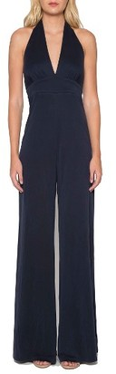 Women's Willow & Clay Jersey Halter Jumpsuit $99 thestylecure.com
