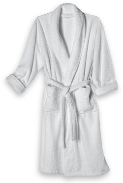 Hotel Collection Zero Twist White Terry Bathrobe