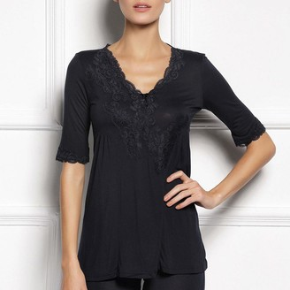 Black Label Pag Elbow Sleeve Top