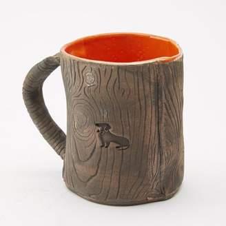 Blade + Blue Ceramic Faux Wood with Orange Dachshund Mug
