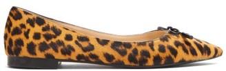 Prada Leopart Print Calf Hair Ballet Flats - Womens - Leopard