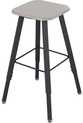 Safco, Alpha Better Adjustable Height Stool, 1 Each, Black