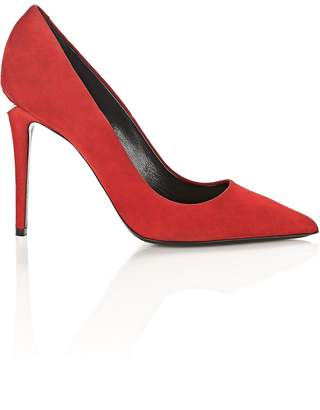 Alexander Wang Tia Suede High Heel Pump With Rhodium