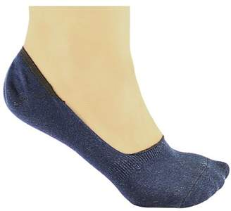 DL furniture 6 Pack Dark blue Thin Casual No Show Socks Non Slip Flat Boat Line