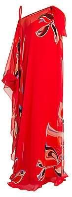 Emilio Pucci Women's Heliconia-Print Silk Chiffon Gown