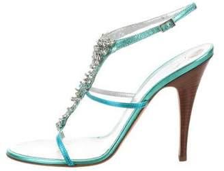 Giuseppe Zanotti Embellished Metallic Sandals