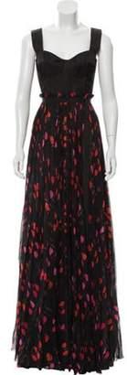 Alexander McQueen 2018 Poppy Print Bustier Dress w/ Tags Black 2018 Poppy Print Bustier Dress w/ Tags