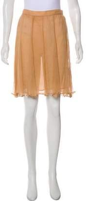 Thierry Mugler Silk Knee-Length Skirt