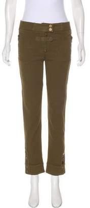 Alexander McQueen Mid-Rise Straight-Leg Pants