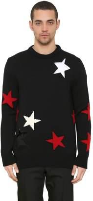 Givenchy Stars Intarsia Wool Knit Sweater