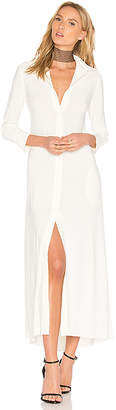 Norma Kamali Long Swing Dress in Ivory $170 thestylecure.com
