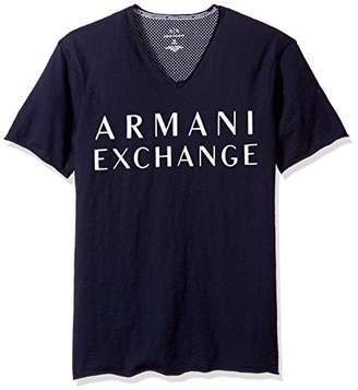 Armani Exchange A|X Men's Raw Edge Vneck Jersey Tee
