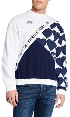 HUMAN MADE Men's Crazy Paneled Sweatshirt